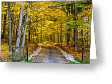 Autumn Entrance 5 Greeting Card
