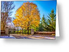 Autumn Entrance 6 - Paint Greeting Card