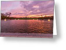 Autumn Evening At Forest Parks Grand Basin Greeting Card