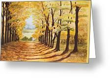 Autumn Evening Greeting Card