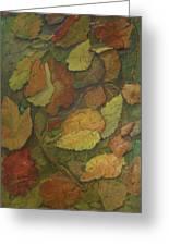 Autumn Falling Greeting Card