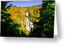 Autumn Falls Greeting Card by Tom Zukauskas