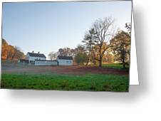 Autumn - Farm At Valley Forge Greeting Card