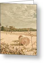 Autumn Farming And Agriculture Landscape Greeting Card