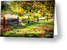 Autumn Fence Greeting Card