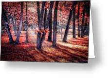 Autumn Firelight Greeting Card