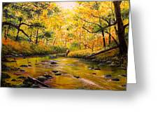Autumn Fishing Greeting Card