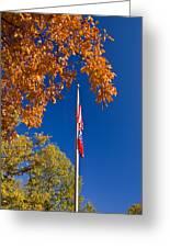 Autumn Flag Greeting Card