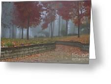 Autumn Fog Greeting Card