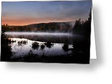 Autumn Fog Greeting Card