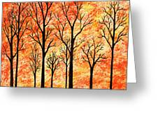 Autumn Forest Abstract  Greeting Card