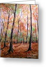 Autumn Forrest Greeting Card