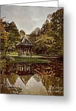 Autumn Gazebo Reflection Greeting Card