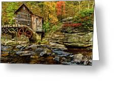 Autumn Glade Creek Grist Mill  Greeting Card