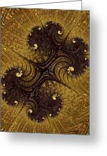 Autumn Glows In Gold Greeting Card