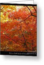 Autumn Gold Poster Greeting Card