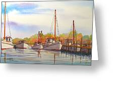 Autumn Harbor Greeting Card