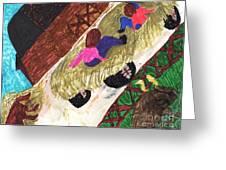 Autumn Hayride Greeting Card