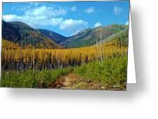 Autumn Hike Greeting Card