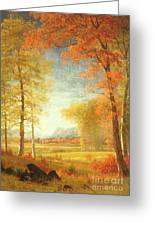 Autumn In America Greeting Card