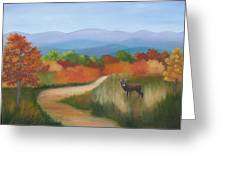 Autumn In Blue Ridge Mountains Virginia Greeting Card