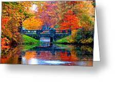 Autumn In Boston Greeting Card