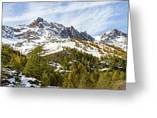 Autumn In French Alps - 18 Greeting Card