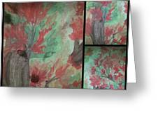 Autumn In My Soul Triptych Greeting Card