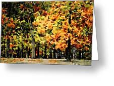 Autumn In Olde Virginia Greeting Card