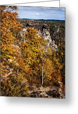 Autumn In Saxon Switzerland Greeting Card