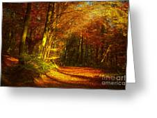 Autumn In Siebengebirge Greeting Card