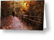 Autumn In Stride Greeting Card