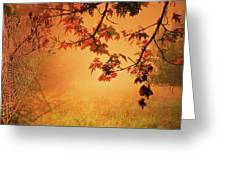 Autumn In The Fog. Greeting Card