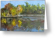 Autumn In The Rock Quarry Greeting Card