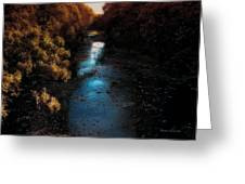 Autumn In The Tributary Greeting Card