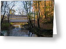 Autumn In Valley Forge - Knox Covered Bridge Greeting Card