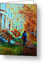 Autumn In Westmount Greeting Card