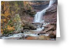 Autumn Kaaterskill Falls Square Greeting Card