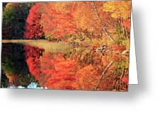 Autumn Lake Scenery Greeting Card