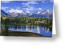 Autumn Lake Greeting Card