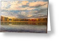 Autumn. Lake. Greeting Card