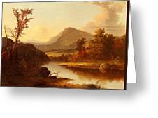 Autumn Landscape George Henry Durrie Greeting Card
