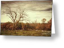 Autumn Landscape In Late November Greeting Card by Sandra Cunningham