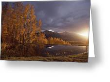 Autumn Landscape Near Telluride Greeting Card
