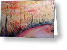 Autumn Lane II Greeting Card