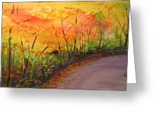 Autumn Lane IIi Greeting Card
