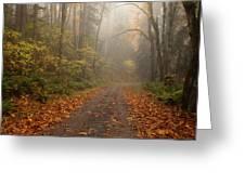Autumn Lane Greeting Card by Mike  Dawson