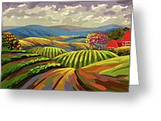 Autumn Lanscape Greeting Card