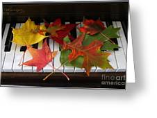 Autumn Leaves - A Love Song Greeting Card