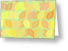 Autumn Leaves Pattern Greeting Card